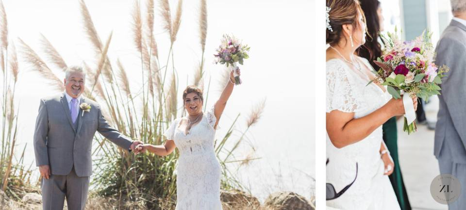candid couples' photography at a wedding at Oceano Hotel in Half Moon Bay, California by Zoe Larkin Photography