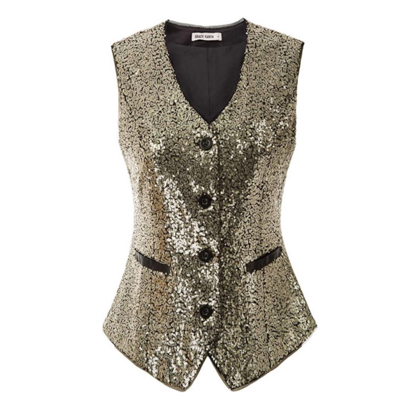 Amazon accessories for engagement photography sessions - GRACE KARIN Womens Waistcoat Vest Vintage Steampunk Dress Jacquard Jacket