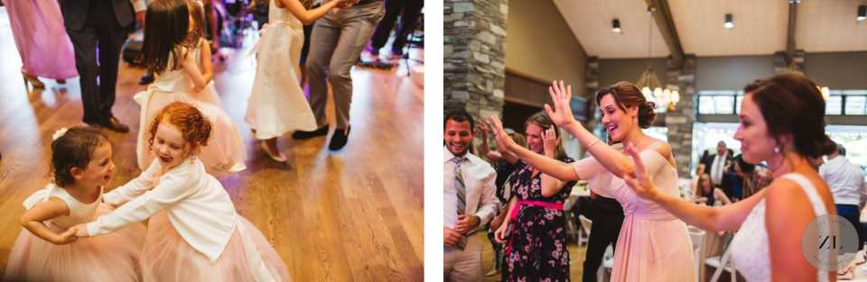 children dancing at the wedding captured by Zoe Larkin Photography