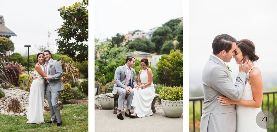 couples' portrait session in varied locations around the affordable bay area venue, Highlands Country Club in Oakland, East Bay