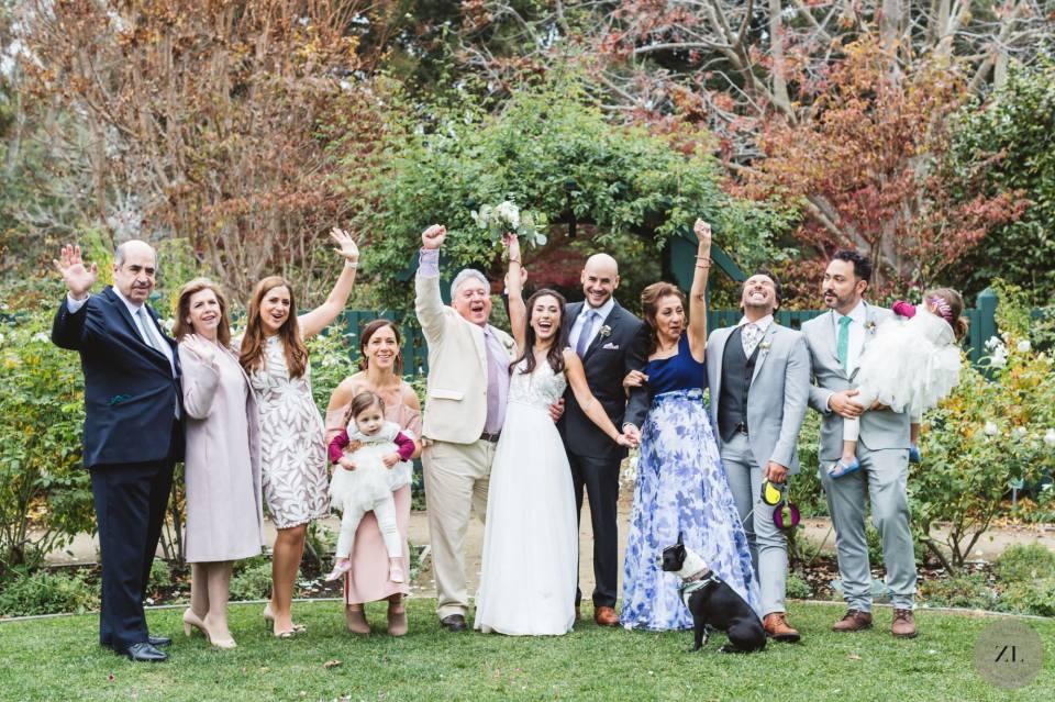 family photos at Gamble Garden wedding by zoe larkin