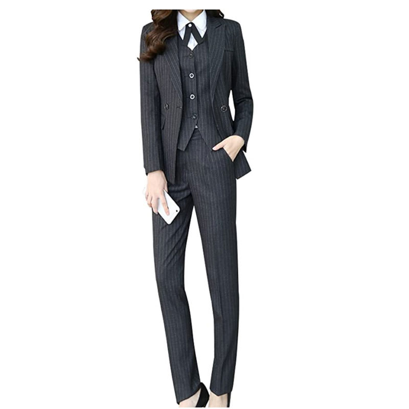 Affordable business suit suitable for non binary gender-free engagement shoot