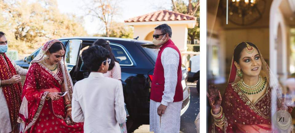 candid wedding photography - bride arrival at The Club at Ruby Hill