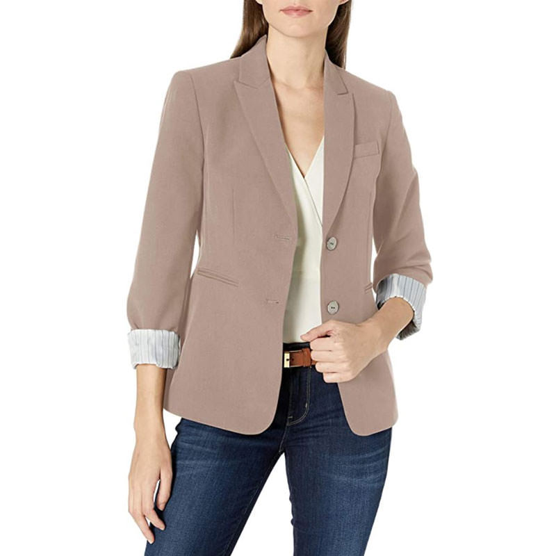 beautiful tahari blazer suitable for non gendered engagement shoot