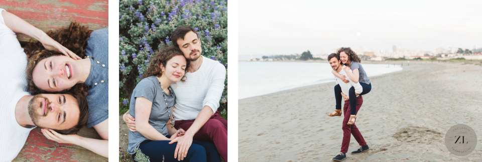 quirky and relaxed engagement with a fun couple at Crissy Field in San Francisco