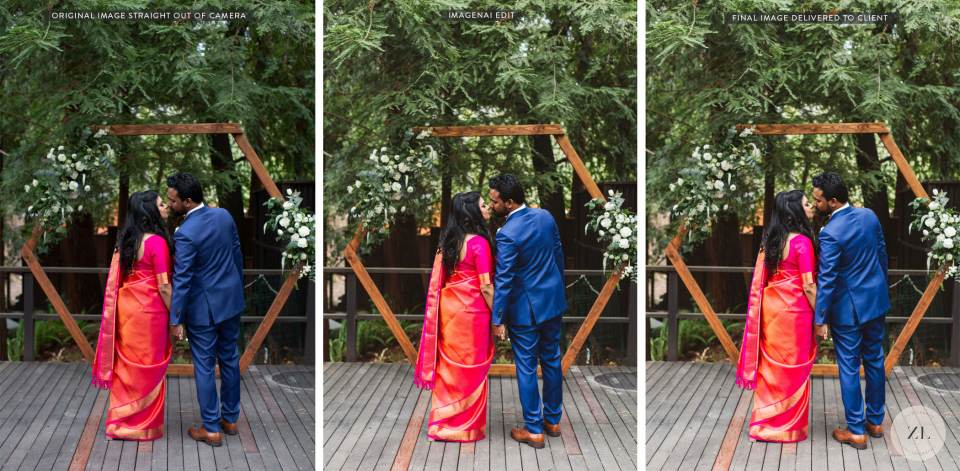 A before and after of photos edited by ImagenaI by Zoe larkin photography