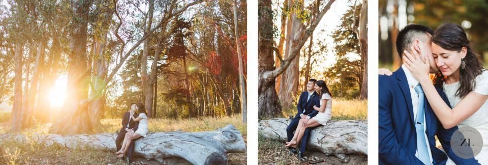 wedding day photos in the Presidio of San Francisco by Zoe Larkin Photography