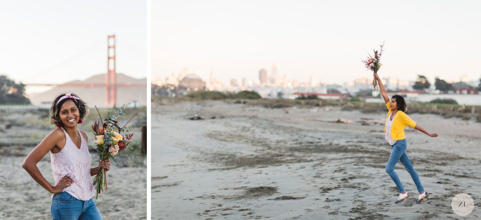 San Francisco engagement photographer experienced at photographing at Crissy Field