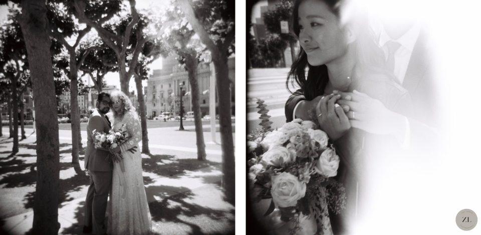 San Francisco wedding photos taken with a toy camera, the Holga 120