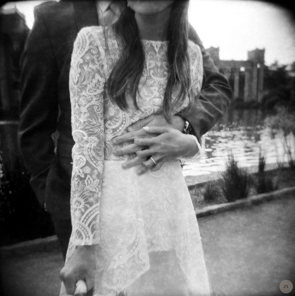 wedding photo taken with toy camera (Holga)