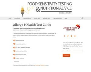 Allergy & Health Test Clinc Screenshot