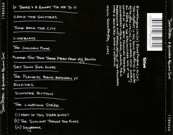 CD Album Back Cover