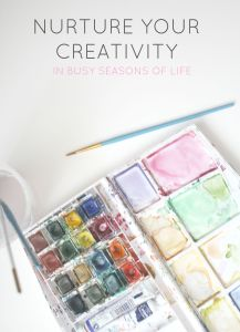 Life can get so busy- and there's not always a lot we can do about it. How can we make time to pursue and nurture your creativity in busy seasons? Some tips from a busy mama of three who is very much in that place.