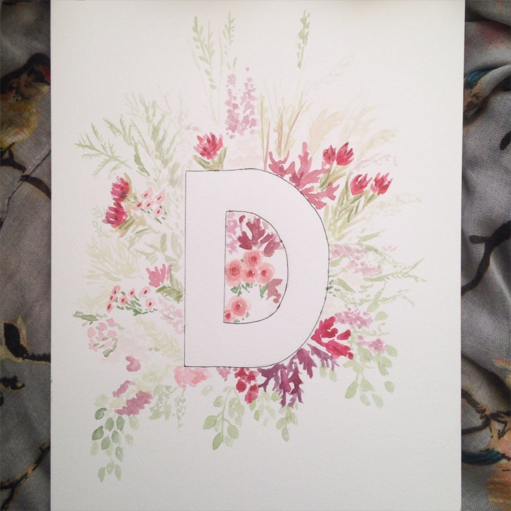 Zoeprose floral alphabet