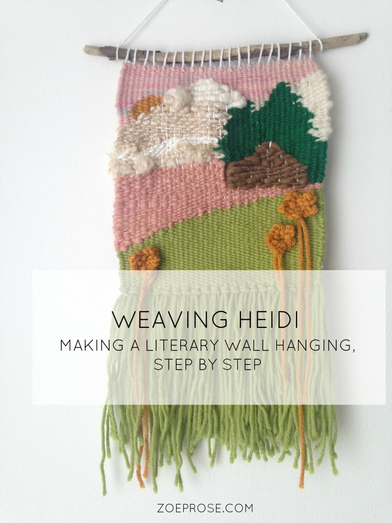 Step by step behind the scenes of weaving a literary wall hanging, inspired by the classic children's book Heidi.