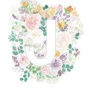 J Floral Alphabet Letter Print | Zoeprose