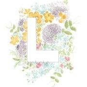 L Floral Alphabet Letter Print | Zoeprose
