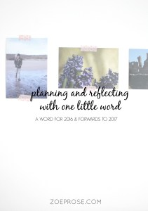 Planning and reflecting with one little word - want a new way to view your year, aside from lengthy resolutions which can be disheartening? Try choosing a word!