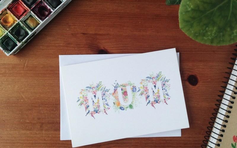 'Mum' Floral Card