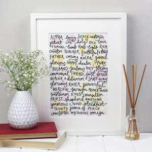 Names of God Wall Art, Names of God Zoeprose Print