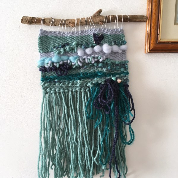 The little mermaid wall hanging | literary weaving, fairytale nautical bedroom nursery decor