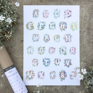 Floral Alphabet Print | Zoeprose