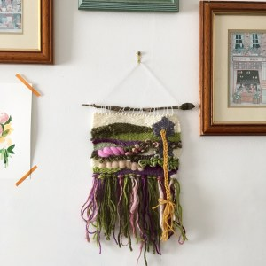 Rapunzel wall hanging, fairytale wall art, literary weaving | Zoeprose