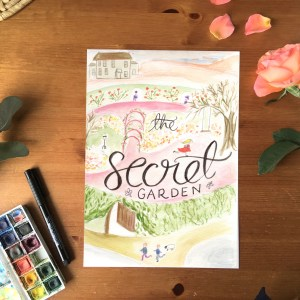 The Secret Garden bookcover print | Zoeprose