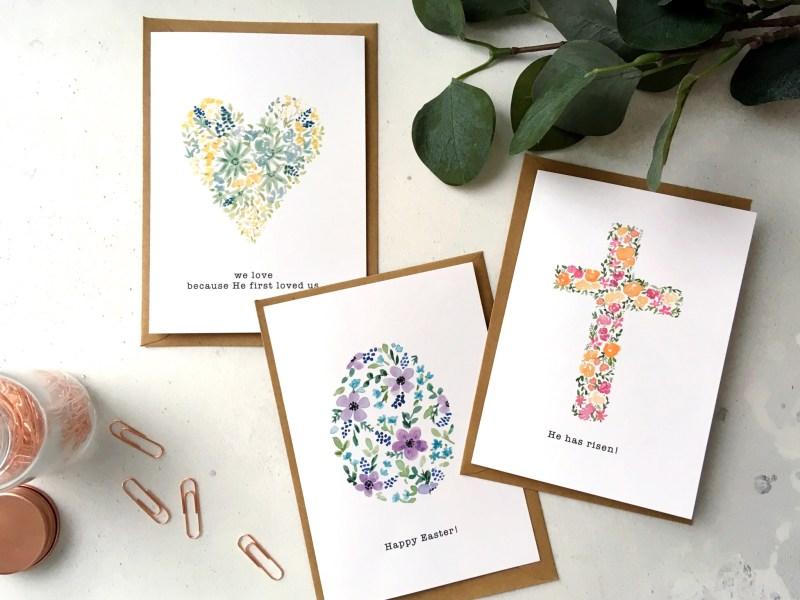 Floral Easter Cards – Set of 3