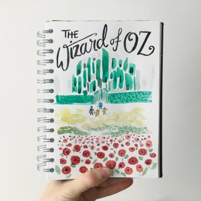 Sketchbook Saturday – more flowers and prose