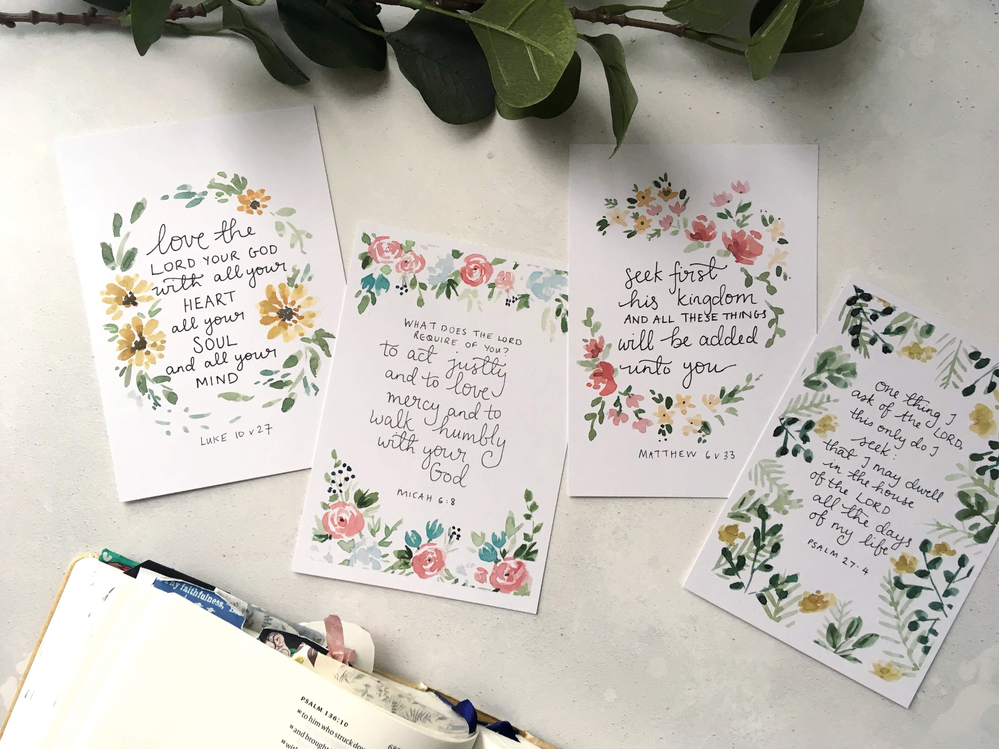 Bible verse scripture cards