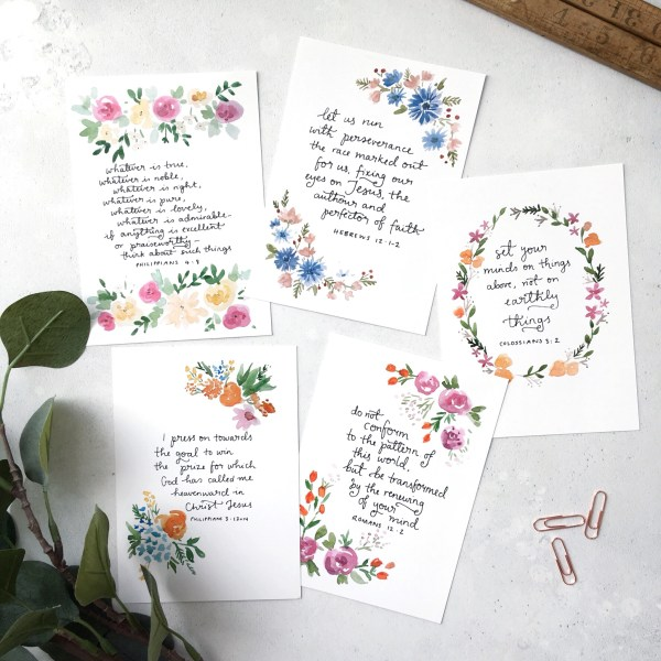 bible verse scripture card set
