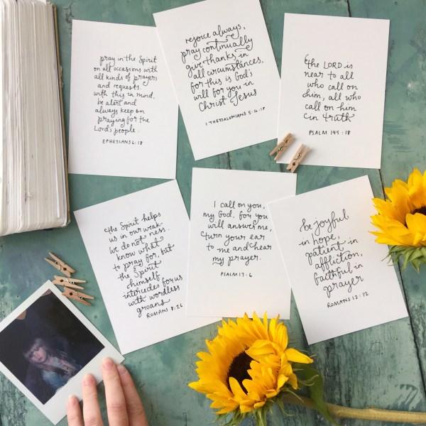prayer set | bible verse scripture cards