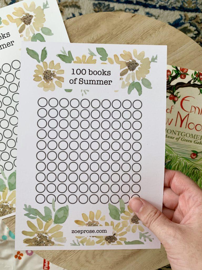 100 books of summer   Zoeprose summer reading challenge