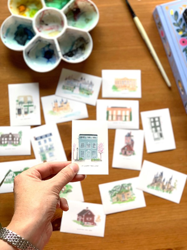 literary house sticker set