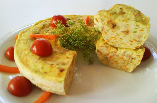 Pastel de calabacin, ideal para comer en cualquier momento caliente o temperatura ambiente