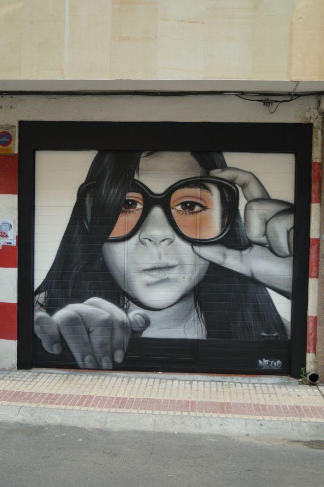 Una de las primera obras de arte urbano por el Barrio