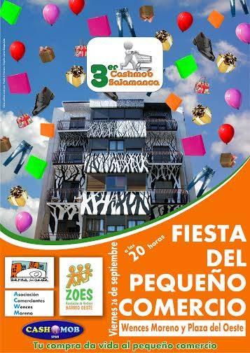 Cartel anunciador de la Fiesta del Comercio.