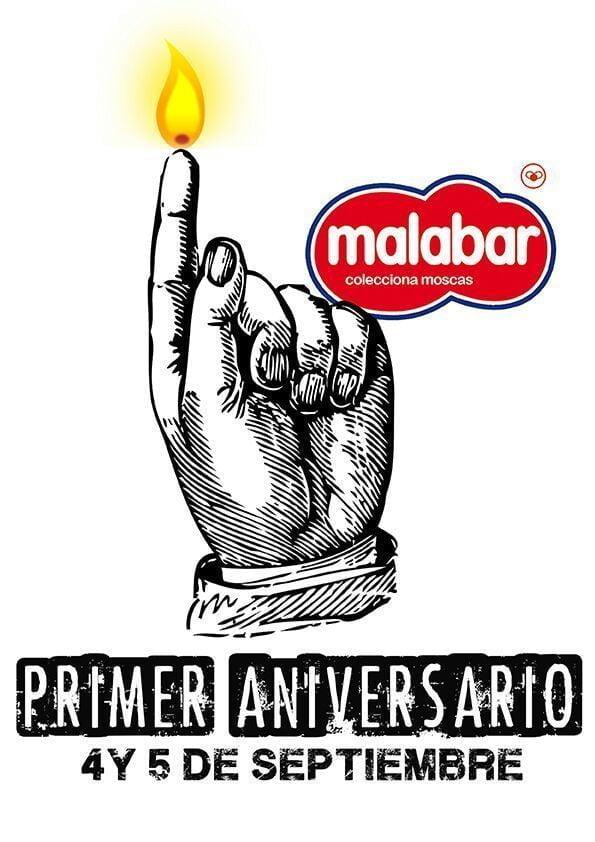 Primer aniversario del bar Malabar