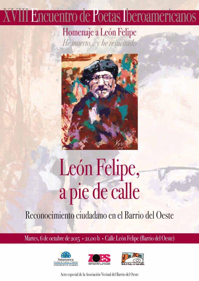 Acto de reconocimiento a León Felipe
