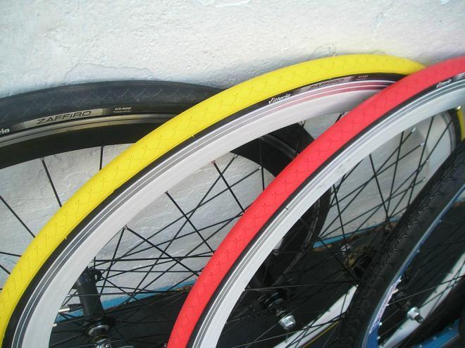 Ruedas de bicicleta tuneadas.