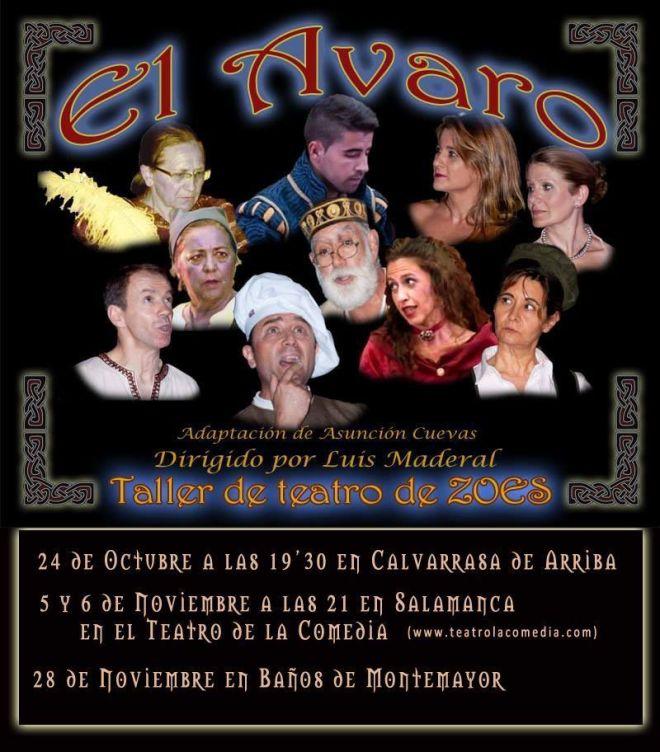 Próximas actuaciones grupo taller de teatro de ZOES