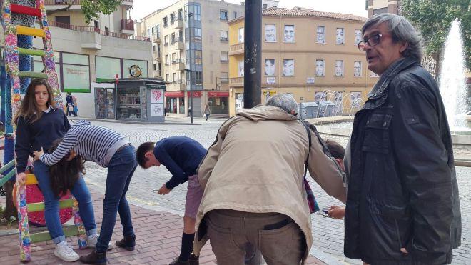 Niños jugando en la Plaza
