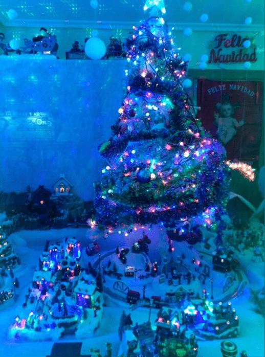 Ciudad navideña en el Barrio