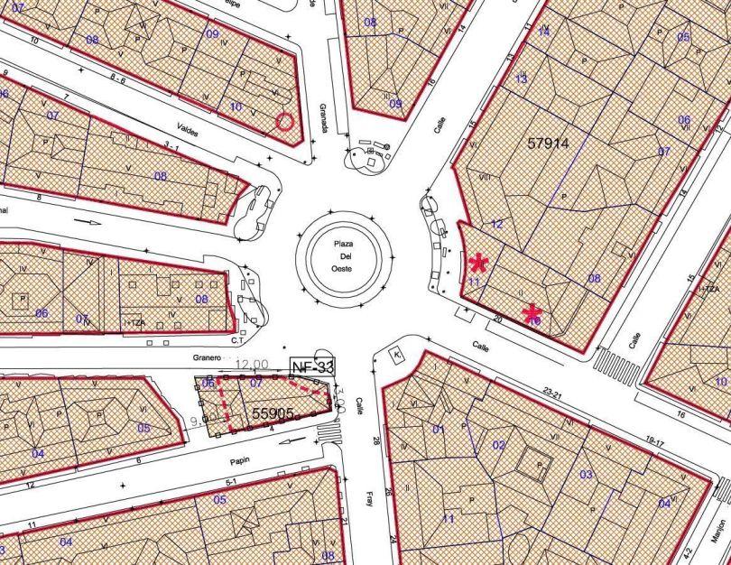 Dimensión de la plaza del Eeste en la Revisión del Plan General de Salamanca de 2007 (1)