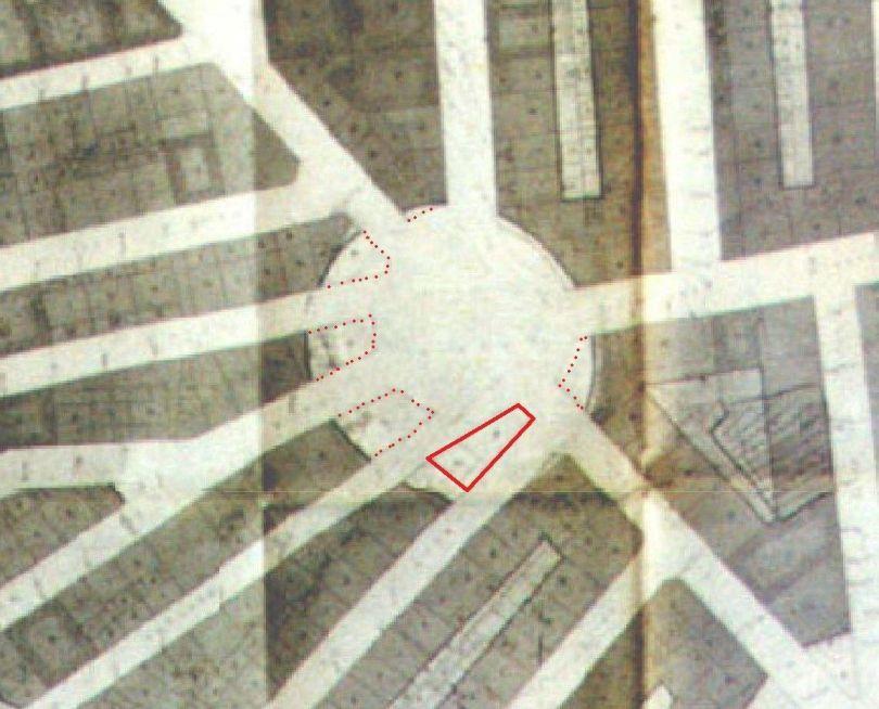 Dimensión de la plaza del oeste en Plan Parcial de la Zona 10 1969_Fuente libro David Senabre_1 (1)
