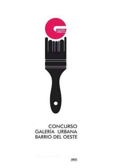 cartel Galería Urbana brocha