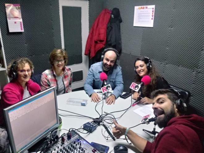 De izquierda a derecha, Juncal Marcos, Pilar Rodríguez, Ricardo Alcalde, Arancha Martín y Kike Monasterio