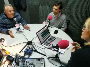 José Pío, Román Andrés y Elena Martín