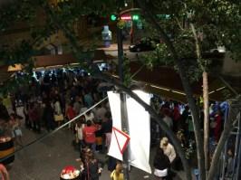 La Plaza del Oeste ambientada con las casetas de la Feria de Día.